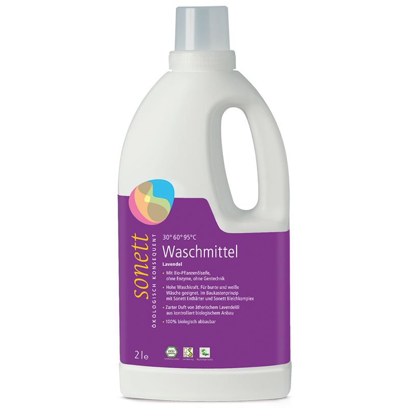 SONETT Waschmittel flüssig Lavendel (2 Liter) – Bild 1