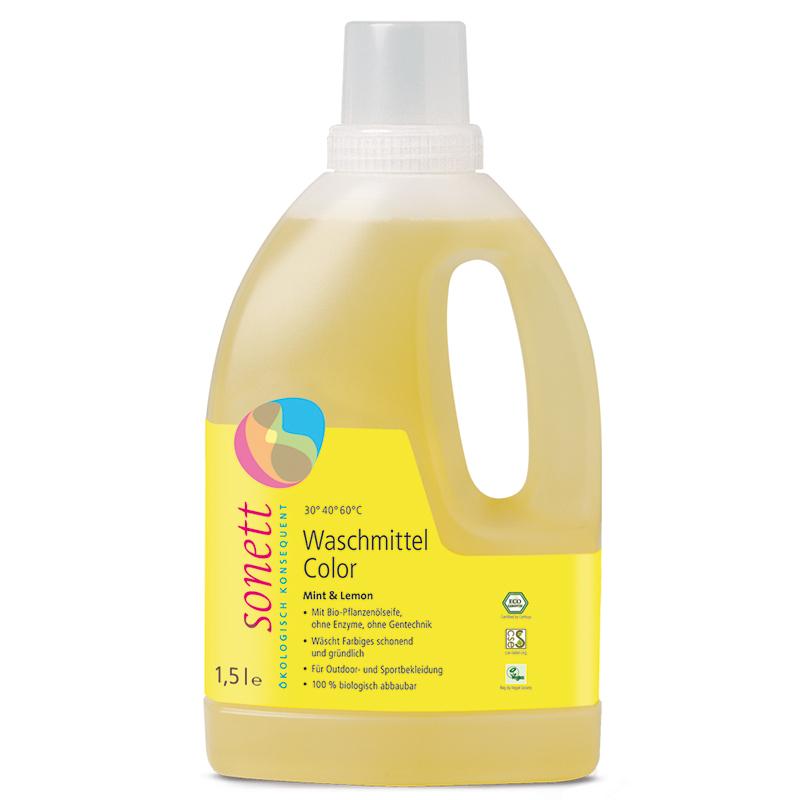 SONETT Waschmittel Color Mint & Lemon (1,5 Liter) – Bild 1